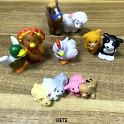 8x Fisher Price Little People Farm Barn Animal Friends Baby Pig Bunny Duck Kitty