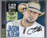 Jason Aldean Old Boots New Dirt Signed Cd Very Rare Autographed Country