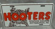 Vtg Hooters Restaurant Station Square Pittsburgh Pa Novelty License Plate Nos