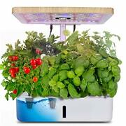 Hydroponics Growing System,indoor Herb Garden Starter Kit W/led Grow Light,plant