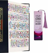 Personalized Bible Indexing Tabs, Old And New Testaments 75 Tabs 66 Books, 9 Blank