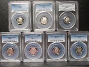 Lot Of 7 Silver Proof Roosevelt Dimes Pcgs Pr69/70 Mixed Years Q2l1