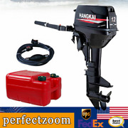 Hangkai 12hp Outboard Motor Fishing Boat Engine 2 Stroke Water Cooling System Us
