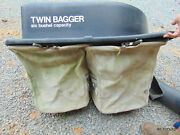 Toro Lawn Mower Tractor Twin Bagger Grass Leaf Catcher With Chute Used