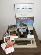 Vintage Commodore 64 Computer W/ Mso Super Disk Drive And 1541 Single Floppy Disk