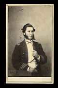 Civil War Naval Officer By Hawaii Photographer Chase 1860s Cdv Photo / Navy Usn
