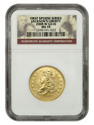2008-w Jacksons Liberty 10 Ngc Ms70 - First Spouse .999 Gold