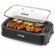 Cukor Indoor Smokeless Grill 1500w Power Electric Grill With Tempered Glass L...