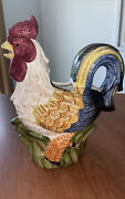 Jay Import Co Colorful Ceramic Rooster Pitcher Creamer 🆒 Farm House Decor
