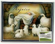Lang Company Rejoice Linen-embossed Boxed Christmas Cards And Envelopes New