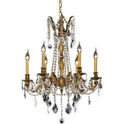 Crystal Chandelier French Gold Dining Living Room Kitchen Island Fixture 6 Light