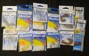 New 15 Packs Lot Mustad Variety Fishing Hooks Rigs Leaders Porgy Different Sizes