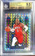 2019-20 Panini Mosaic Stained Glass 2 Russell Westbrook Rocket Bgs 9.5 Gem Mint