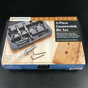 Rockler 3-piece Tapered Countersink Bit Set With Case 0340