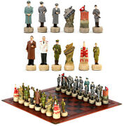 Chess Set Soviet Union And German War Theme Chess Pieces Luxury Chess Board Set