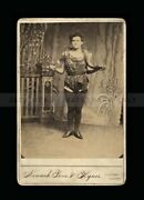 Ooak Rare 1880s Sideshow Photo Of Victorian Snake Charmer / Floating Gallery