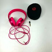 Beats By Dr. Dre Solo 2 Hd B0518 Pink Wired Over The Ear Headphones With Case