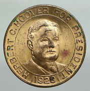 1928 United States Us Capitol Herbert Hoover Presidential Campaign Medal I91889