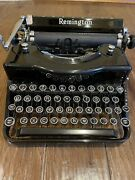 Vintage Remington Rand Model 1 Portable Typewriter With New Ribbon Blk/red Ink