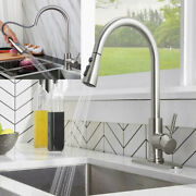 High Arc Kitchen Faucet Swivel Single Handle Sink Pull Down Sprayer Mixer Tap Us