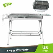 39 X 13 Stainless Steel Folding Portable Charcoal Barbecue Bbq Grill