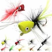 Fly Fishing Poppers Lures For Bass Panfish Flies Topwater Popper For Crappie ...