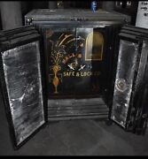 Antique Four Door Safe, Halls Safe And Lock Co., On Wheels, 40x32x55 Tall