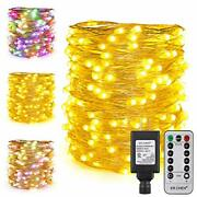 Er Chen Dual Color Plug In Fairy Lights 66ft 200 Led Silver Copper Wire Chris...