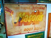 Original Masonand039s Root Beer Antique Soda Pop Soda Fountain Old Time Sign