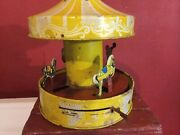 Merry-go-round Carousel Horses Carnival Tin Toy Windup