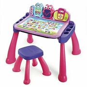 Vtech Touch And Learn Activity Desk Deluxe, Pink - New And Free Shipping