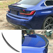 Mp Rear Trunk Spoiler Wing Flap For Bmw 3-series G20 2019-2021 Real Carbon Fiber
