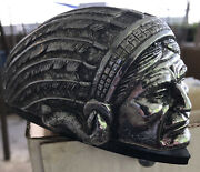 """Indian Head Front Fender Ornament, New , 8"""" X 3"""" Motorcycle Gilroy"""