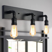 Lmsod Bathroom Vanity Light Fixture, Farmhouse Water Pipe Wall Sconce For Powder