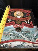 Vintage Jack Daniels 1904 Gold Medal No.7 Tennessee Whiskey Tin Box W/ Glasses