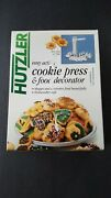 Vintage Hutzler New Easy Action Cookie Pressandfood Decorator Kitand Recipes Germany