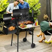 Lxingstore 2-in-1 Charcoal Grills, Portable Bbq Charcoal Grill With Smoker, Prem