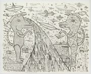 Howard Finster Road Of Eturnety Limited Edition Stone Lithograph 42/50 Signed