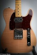 Fender Usa Rarities Series Flame Maple Top Chambered Telecaster Natural And Case