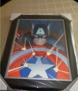 Captain America Visions Alex Ross Canvas 2012 Release Sold Out. Pp 11/25 Framed