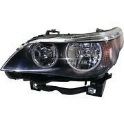 Halogen Headlight For 2004-2007 Bmw 530i Left W/ Bulb And Parking/turn Signal