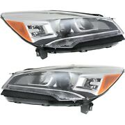 Headlight Set For 2013-2016 Ford Escape Left And Right Upper Hid 2pc