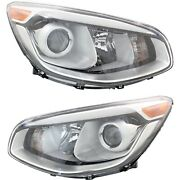 Headlight Set For 2014-2016 Kia Soul Left And Right With Projector Type Capa 2pc