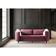 Chic Home Guadalupe Velvet Upholstered Channel-quilted Sofa