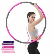 Coma Weighted Hoop For Adults Kids Weight Loss 8 Section Detachable Fitness H...