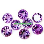 10x10 Mm Round Faceted 100 Natural African Amethyst Loose Gemstone Amazing Cut
