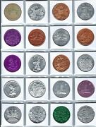 20 Different Walt Disney World Disneyland Castle Mickey Mouse Pooh Coins Tokens