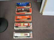 Lot Of 5 Lionel Freight Cars With Original Boxes
