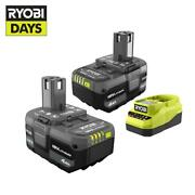 Ryobi One+ 18v Lithium-ion 4.0 Ah Battery 2-pack And Charger Kit