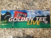 Golden Tee Live 2014 Marquee Sign, Measures 25 3/4 Long X 9.5 Tall - New